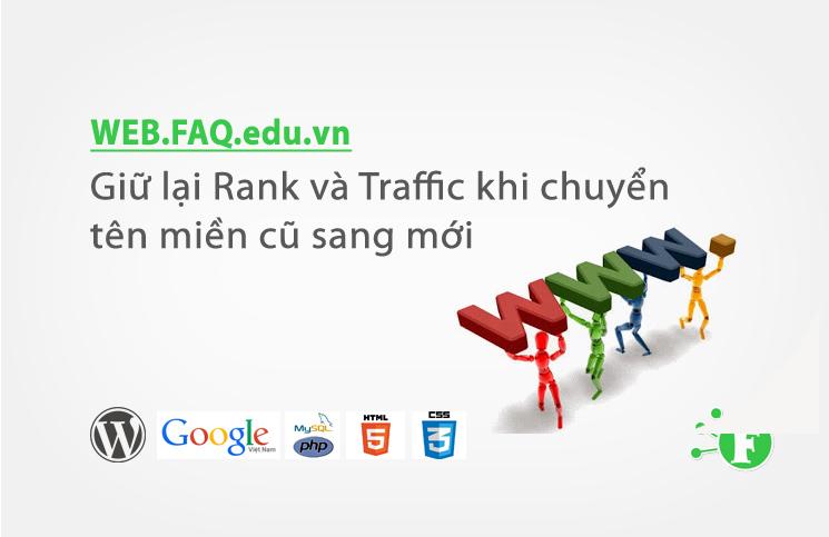 Giữ lại Rank và Traffic khi chuyển tên miền cũ sang mới