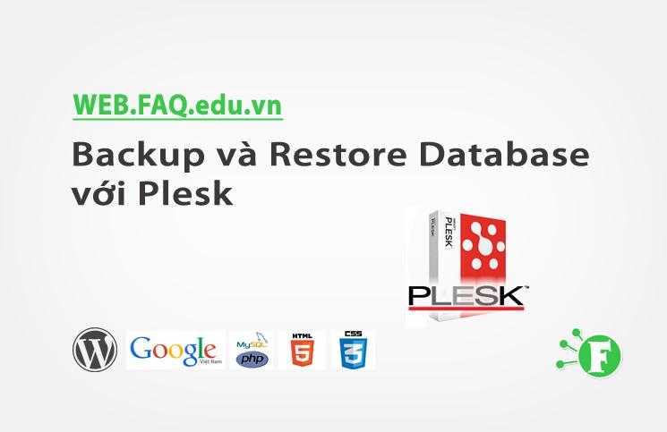 Backup và Restore Database với Plesk