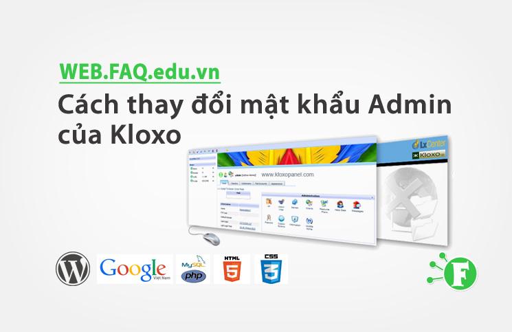 Cách thay đổi mật khẩu Admin của Kloxo