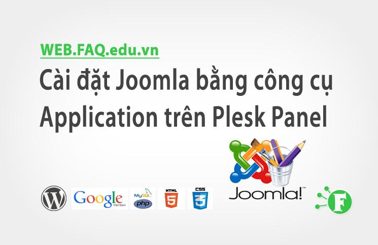 Cài đặt Joomla bằng công cụ Application trên Plesk Panel