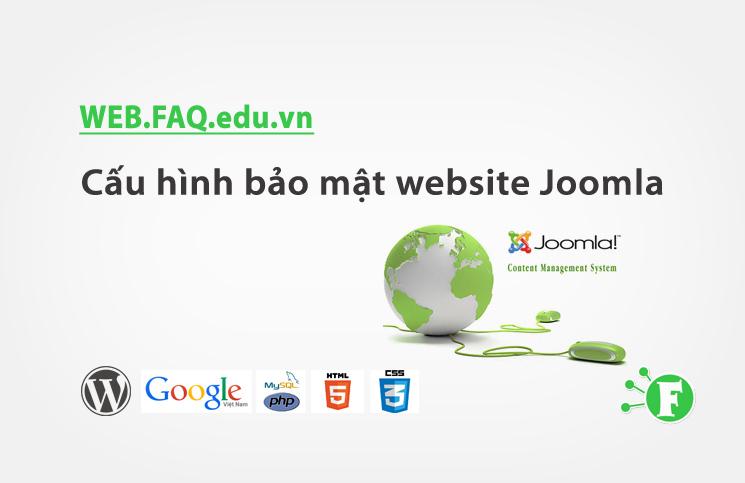 Cấu hình bảo mật website Joomla