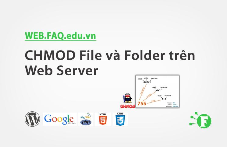 CHMOD File và Folder trên Web Server