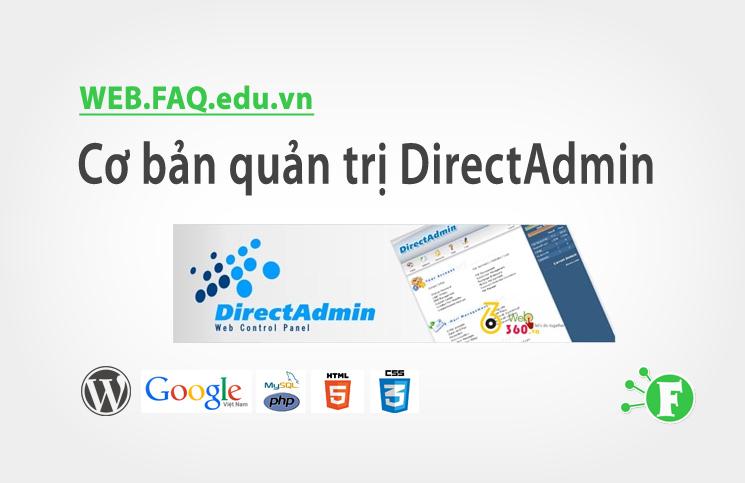 Cơ bản quản trị DirectAdmin