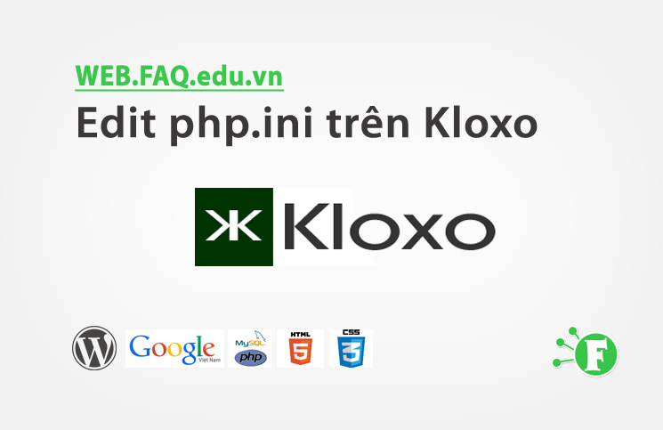 Edit php.ini trên Kloxo