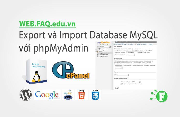 Export và Import Database MySQL với phpMyAdmin