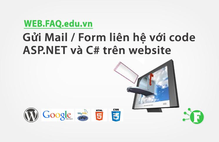 Gửi Mail / Form liên hệ với code ASP.NET và C# trên website