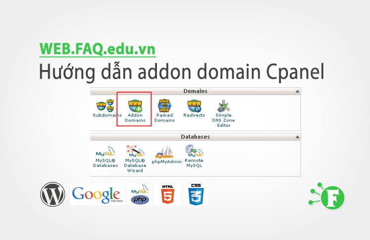 Hướng dẫn addon domain Cpanel