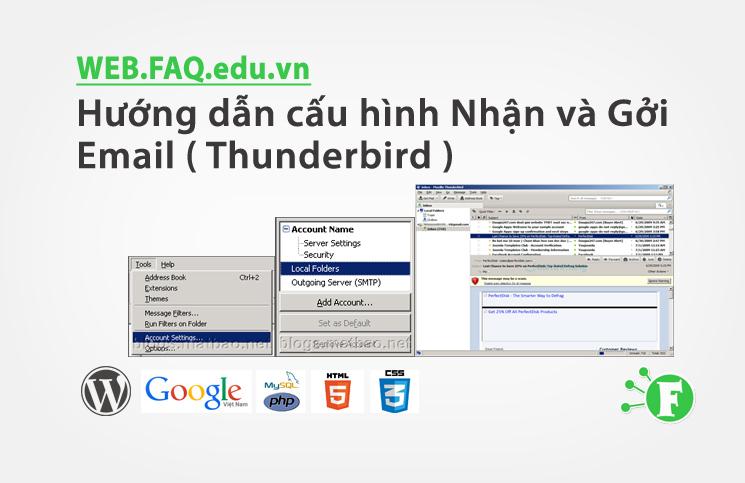 Hướng dẫn cấu hình Nhận và Gởi Email ( Thunderbird )
