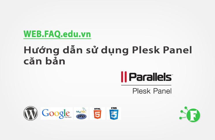 Hướng dẫn sử dụng Plesk Panel căn bản