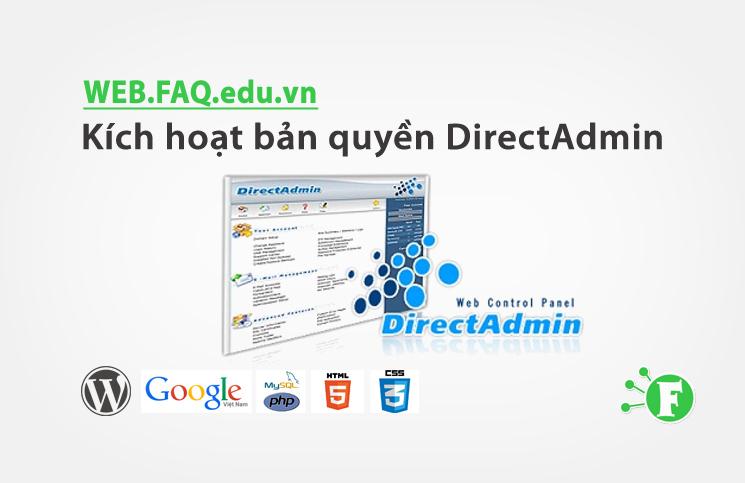 Kích hoạt bản quyền DirectAdmin