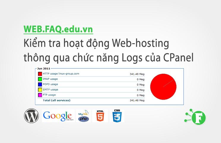 Kiểm tra hoạt động Web-hosting thông qua chức năng Logs của CPanel