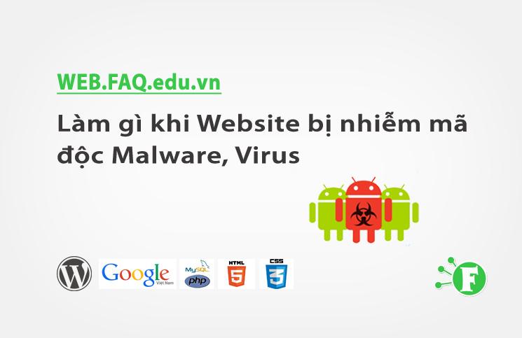Làm gì khi Website bị nhiễm mã độc Malware, Virus