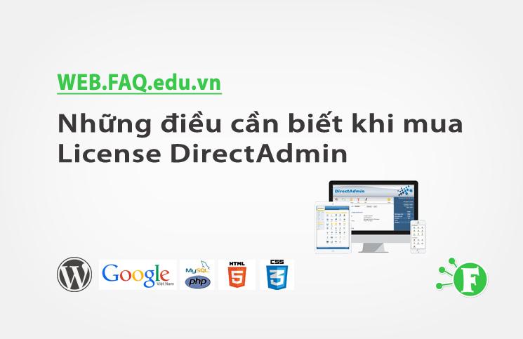 Những điều cần biết khi mua License DirectAdmin