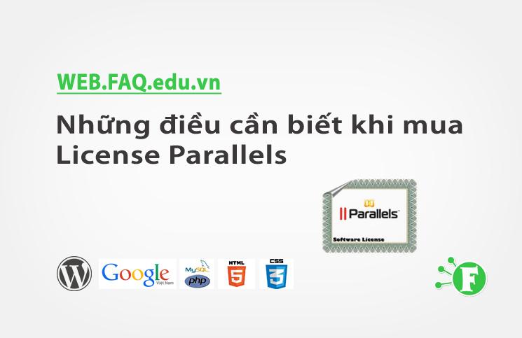 Những điều cần biết khi mua License Parallels (Plesk, Virtuozzo…)