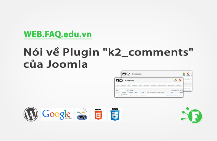 "Nói về Plugin ""k2_comments"" của Joomla"