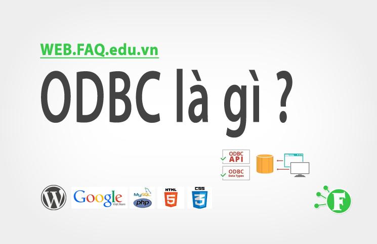 ODBC là gì ?