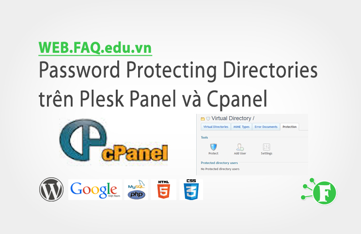 Password Protecting Directories trên Plesk Panel và Cpanel
