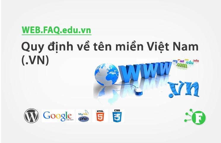 Quy định về tên miền Việt Nam (.VN)