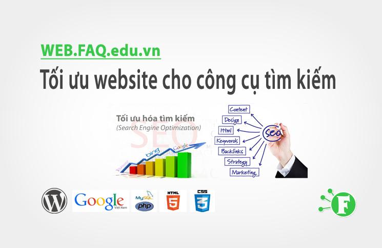 Tối ưu website cho công cụ tìm kiếm